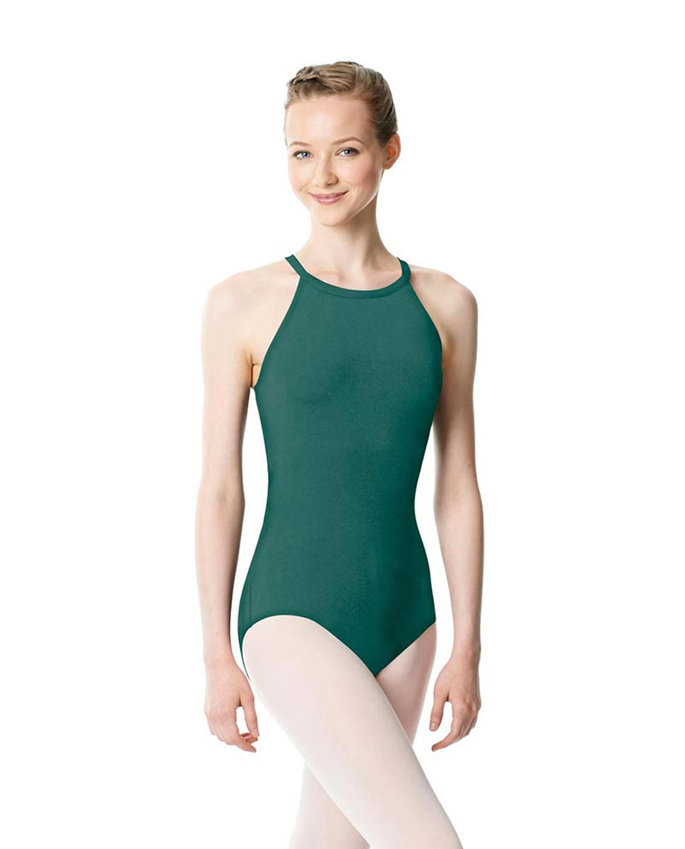 High Neck Tank Dance Leotard Ivana TEA