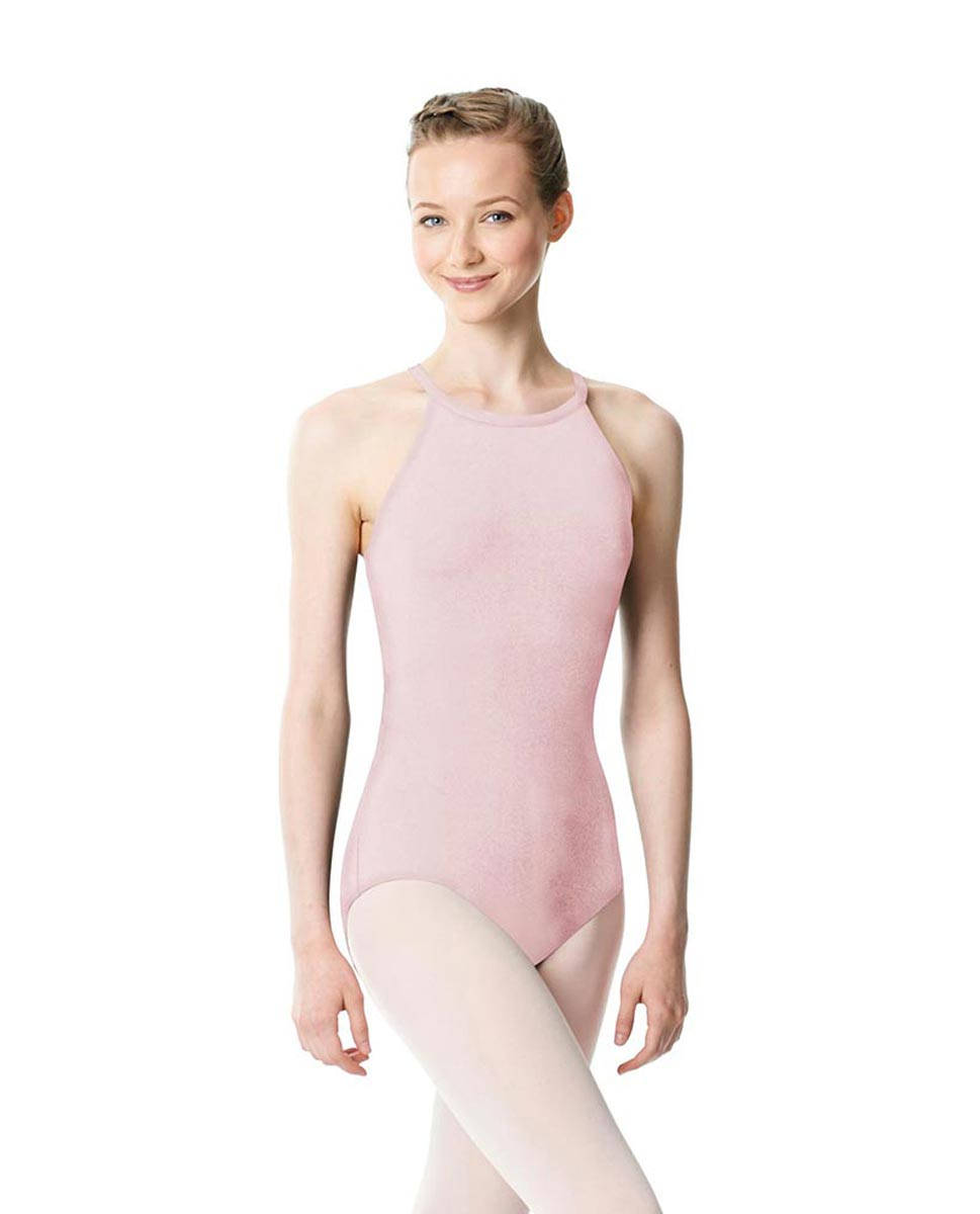 High Neck Tank Dance Leotard Ivana PNK