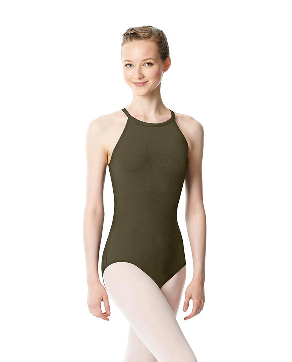 High Neck Tank Dance Leotard Ivana KHA