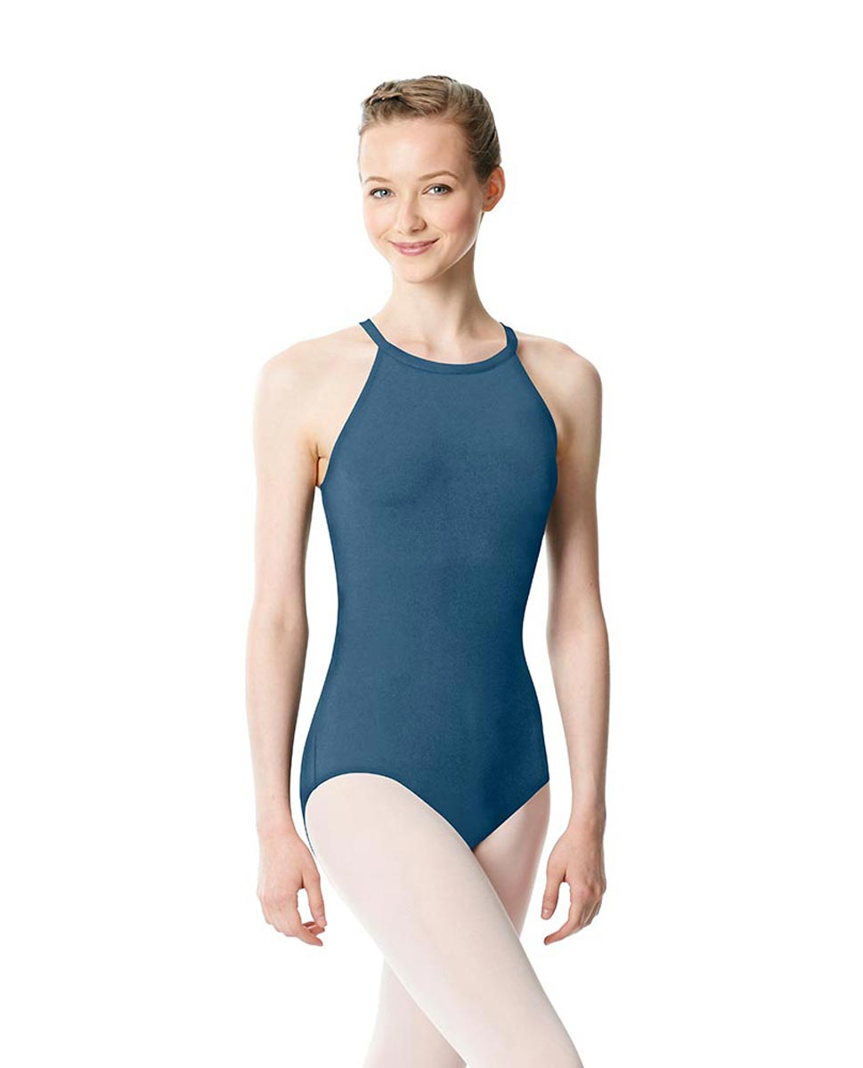 High Neck Tank Dance Leotard Ivana BLUE