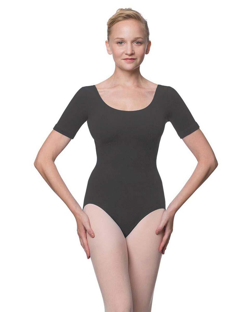Adults Fitted Short Sleeve Ballet Leotard Lauretta DGRE