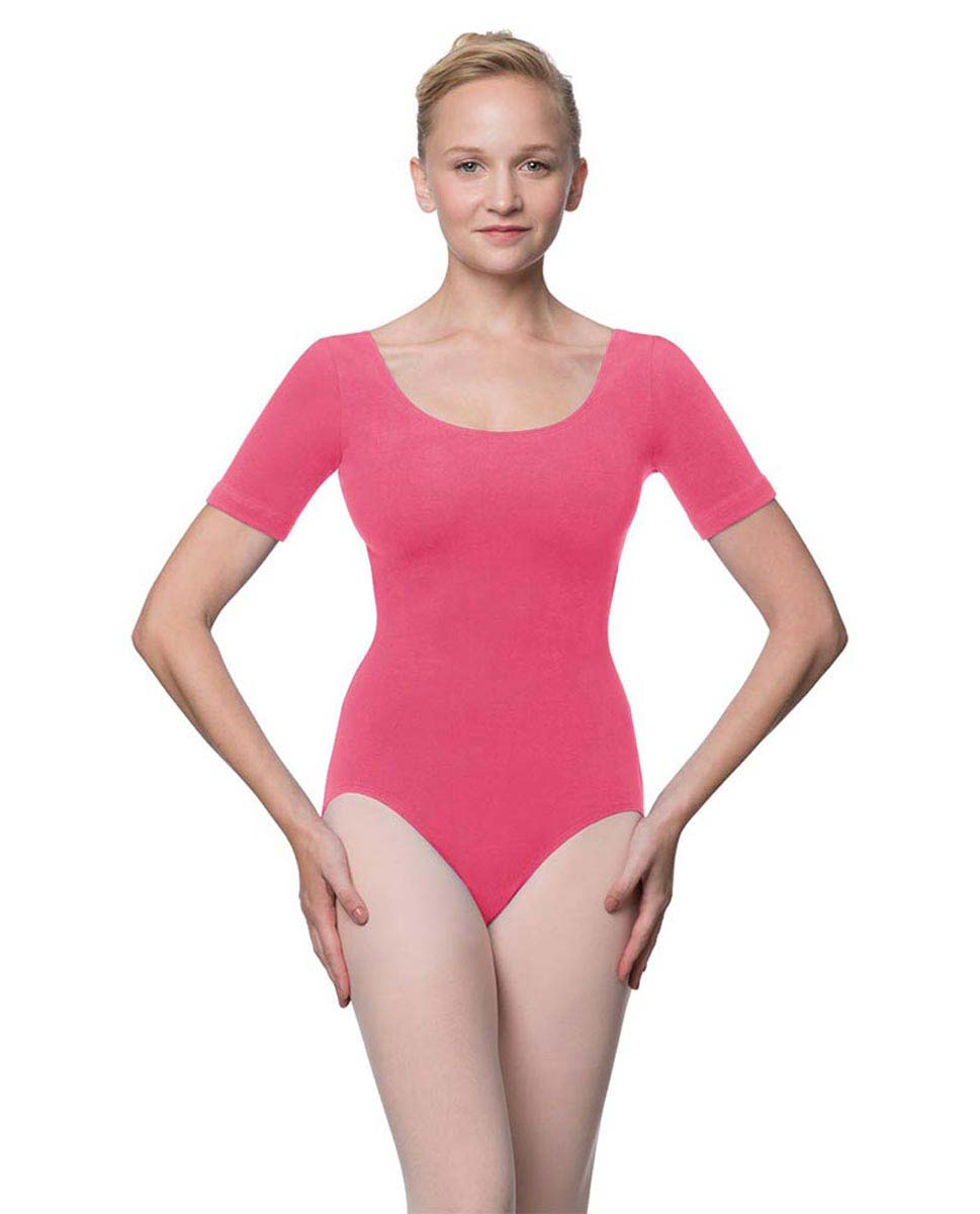 Adults Fitted Short Sleeve Ballet Leotard Lauretta ROS