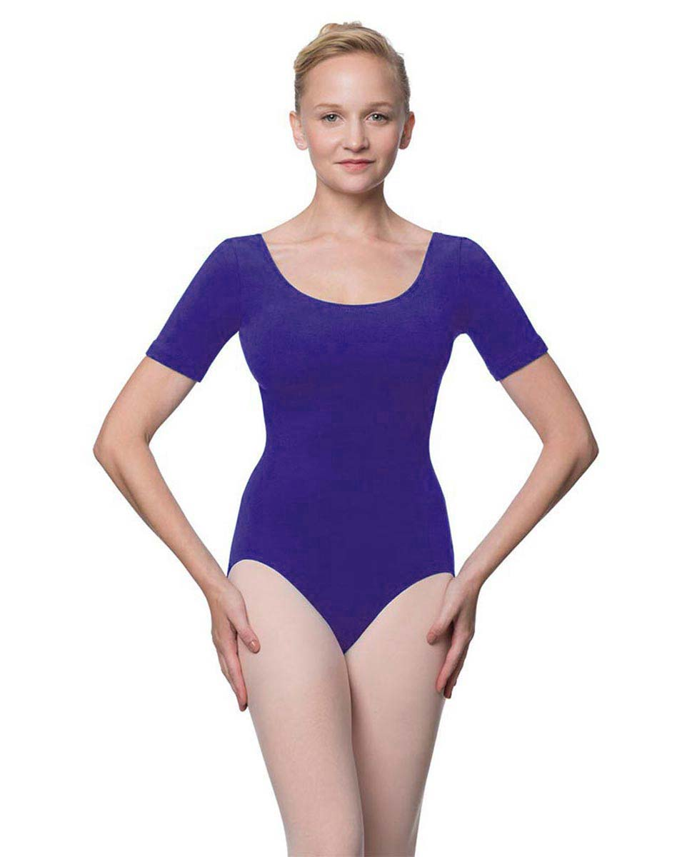 Adults Fitted Short Sleeve Ballet Leotard Lauretta ROY