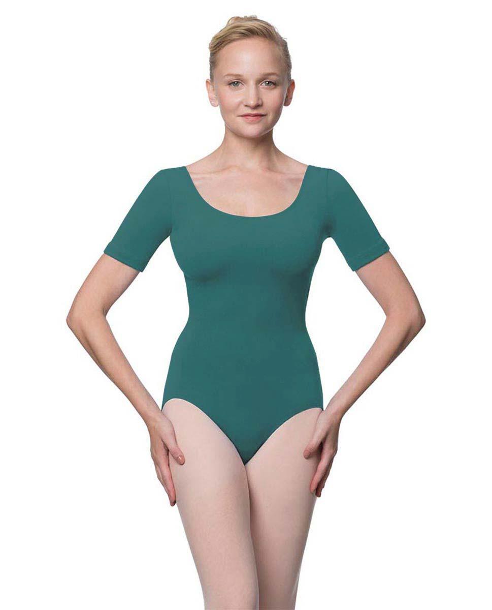 Adults Fitted Short Sleeve Ballet Leotard Lauretta TEA