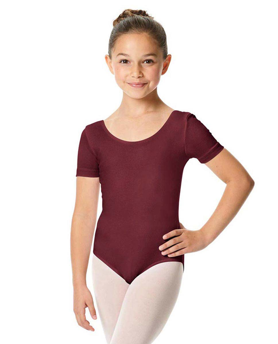 Child Short Sleeve Ballet Leotard Lauretta BUR