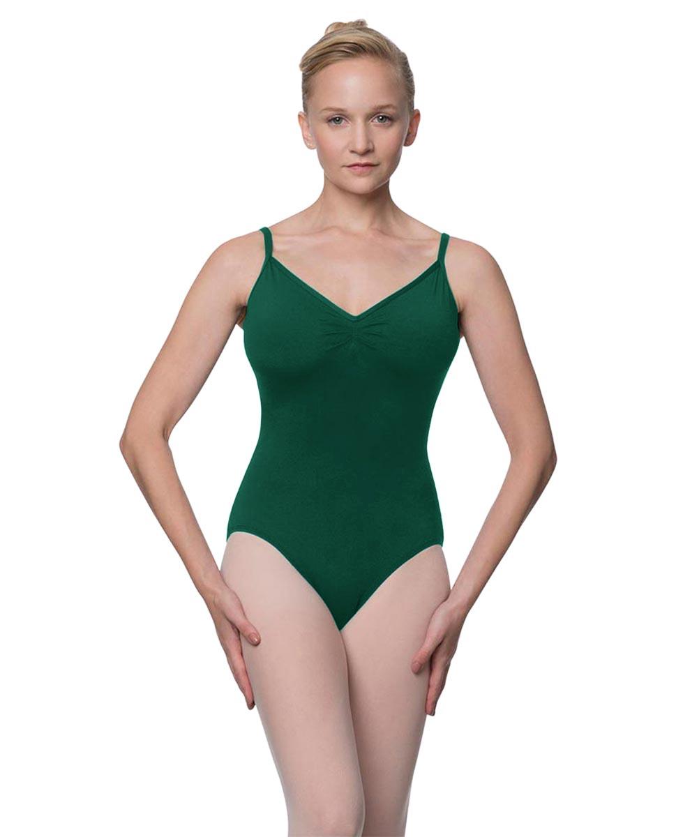 Womens V-Back Camisole Ballet Leotard Malinda DGREEN