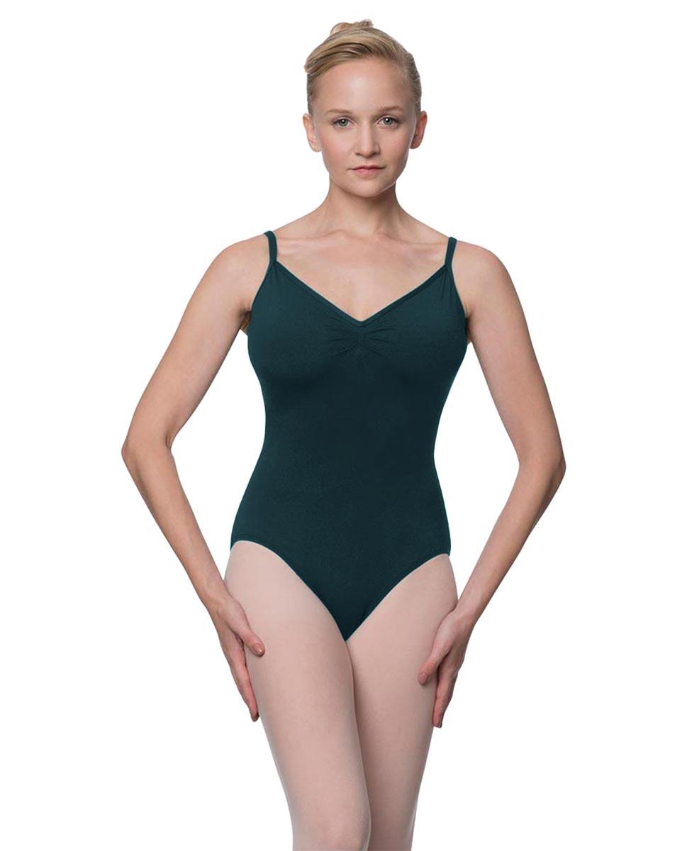 Womens V-Back Camisole Ballet Leotard Malinda DTEAL