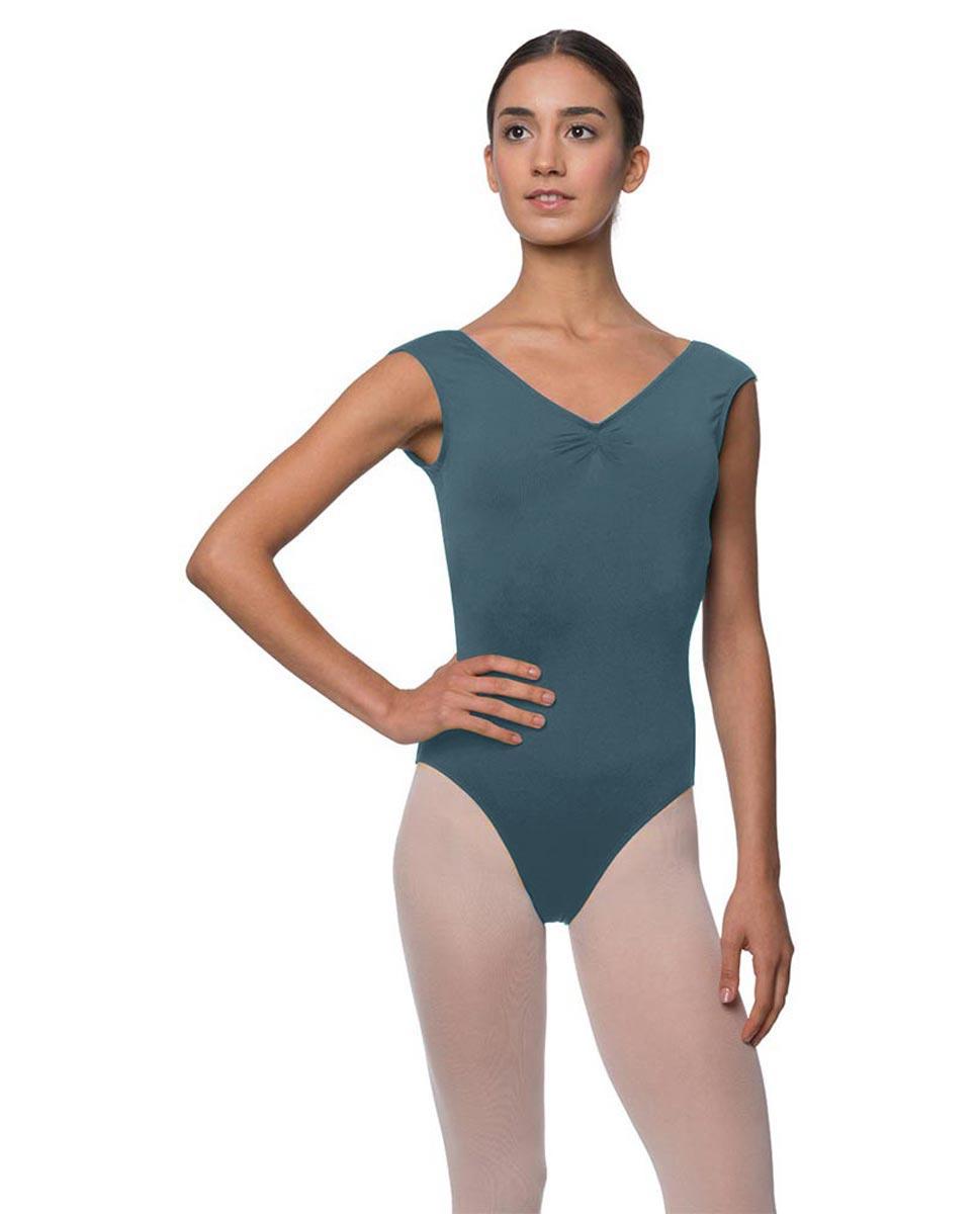 Womens Pinch Front Cap Sleeve Ballet Leotard Reyton JEANS