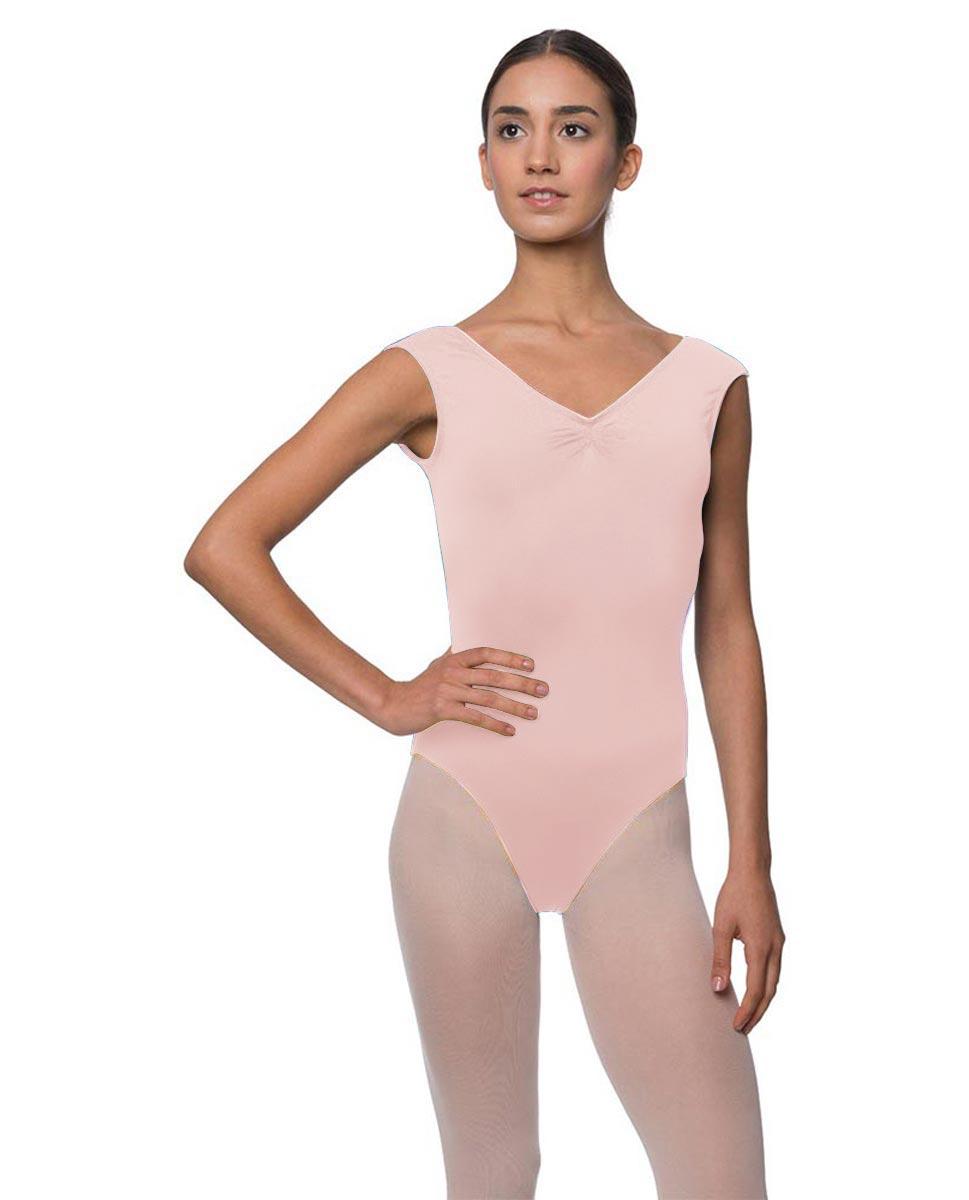 Womens Pinch Front Cap Sleeve Ballet Leotard Reyton LPNK