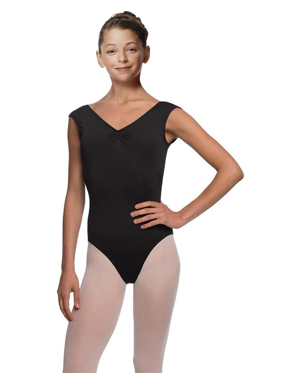 Girls Cap Sleeve Ballet Leotard Reyton BLK