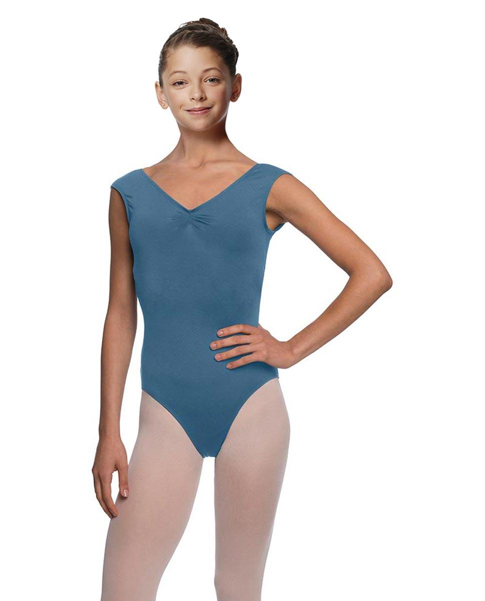 Girls Cap Sleeve Ballet Leotard Reyton BLUE