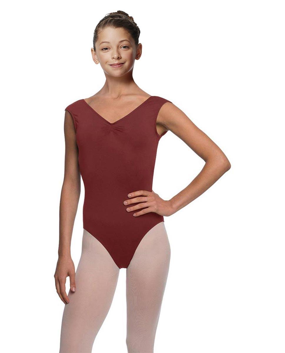 Girls Cap Sleeve Ballet Leotard Reyton BUR