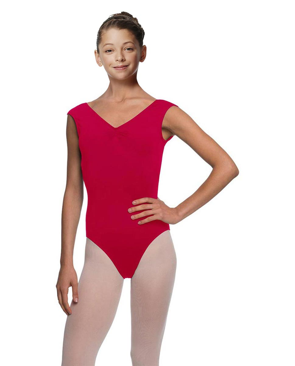 Girls Cap Sleeve Ballet Leotard Reyton DRED