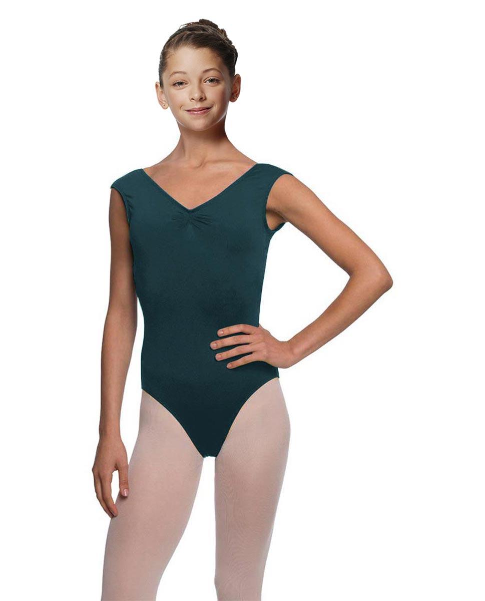Girls Cap Sleeve Ballet Leotard Reyton DTEAL