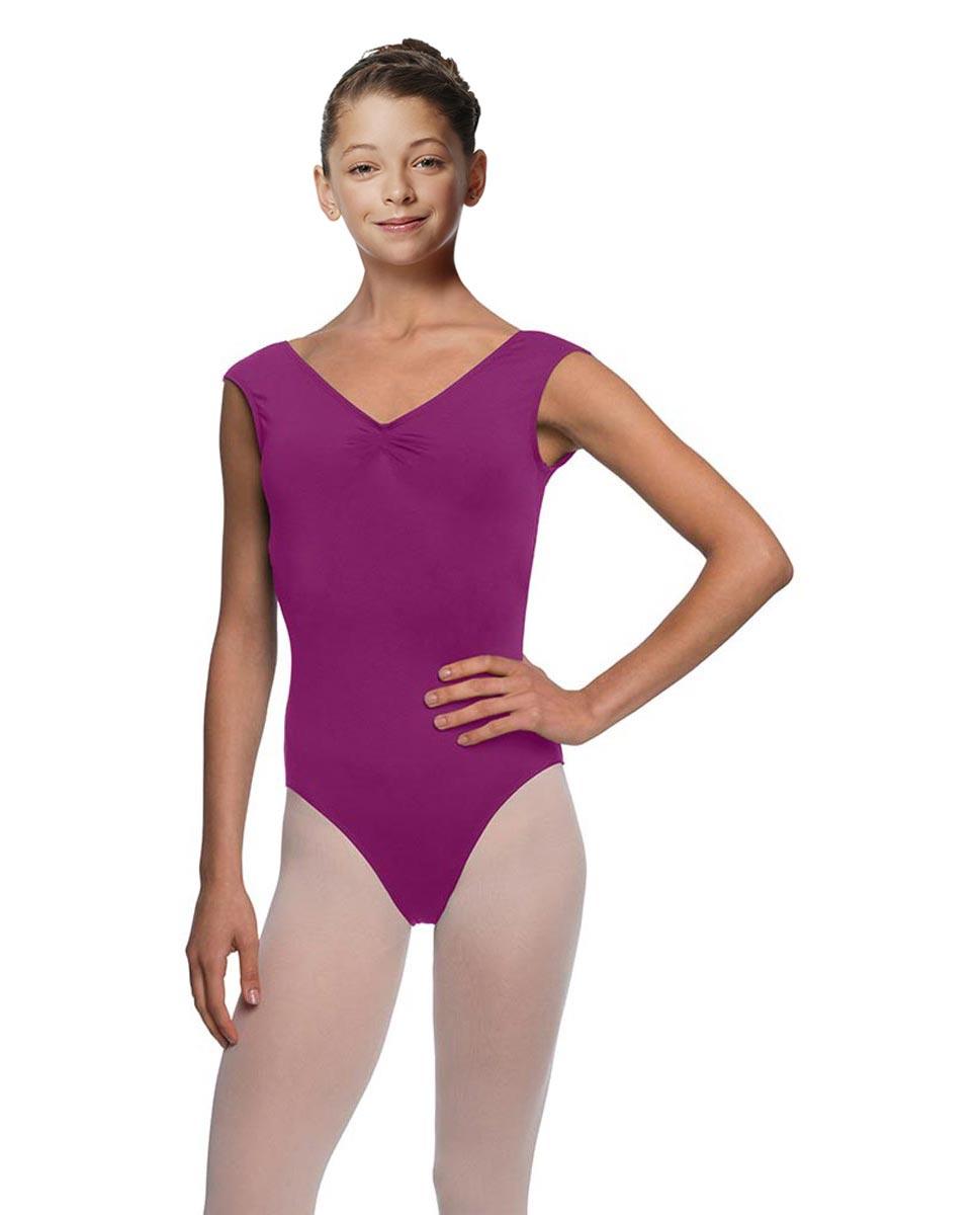 Girls Cap Sleeve Ballet Leotard Reyton GRAP
