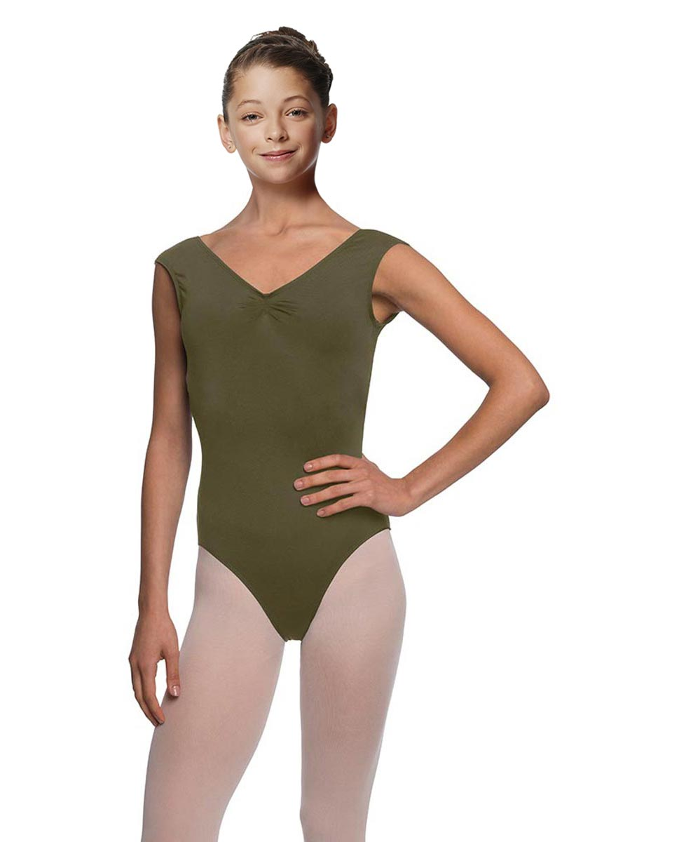 Girls Cap Sleeve Ballet Leotard Reyton KHA