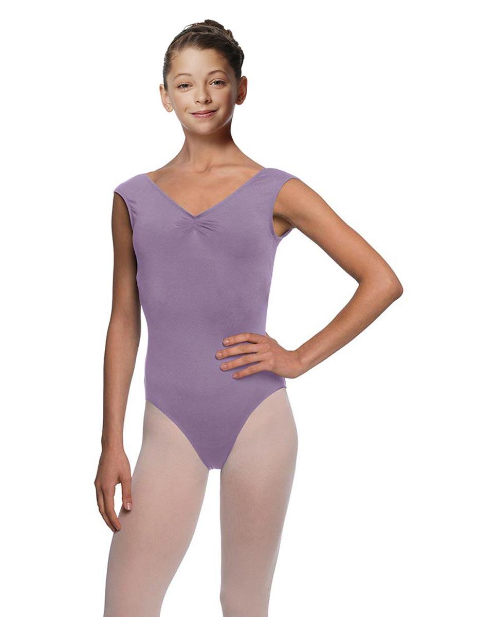 Girls Cap Sleeve Ballet Leotard Reyton LAV