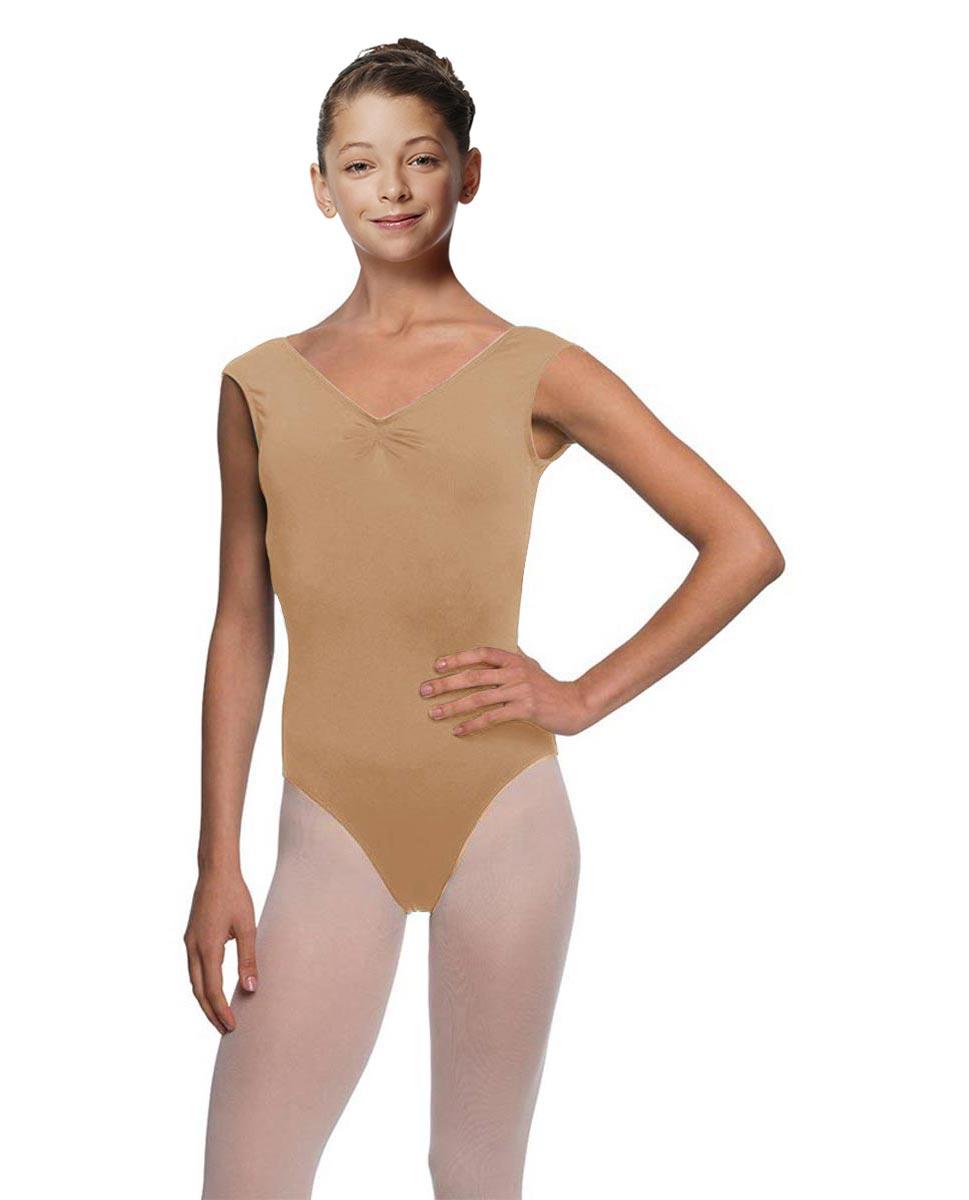 Girls Cap Sleeve Ballet Leotard Reyton NUD
