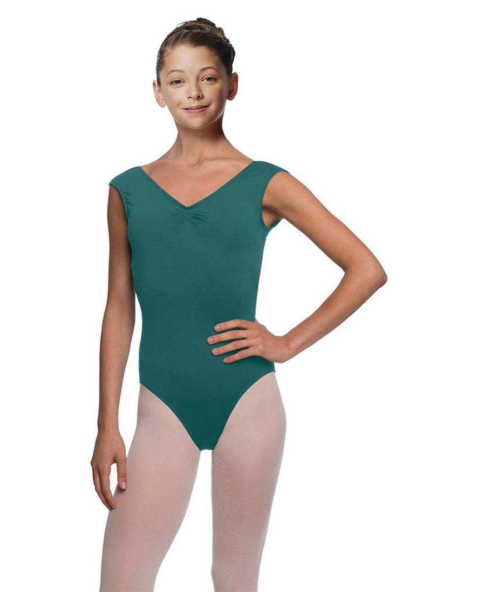 Girls Cap Sleeve Ballet Leotard Reyton TEA