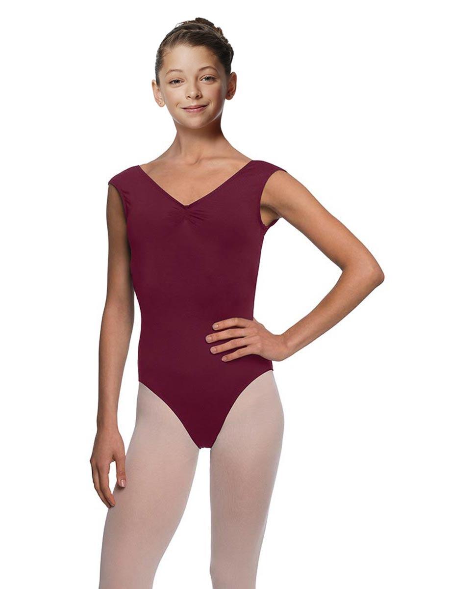 Girls Cap Sleeve Ballet Leotard Reyton WINE