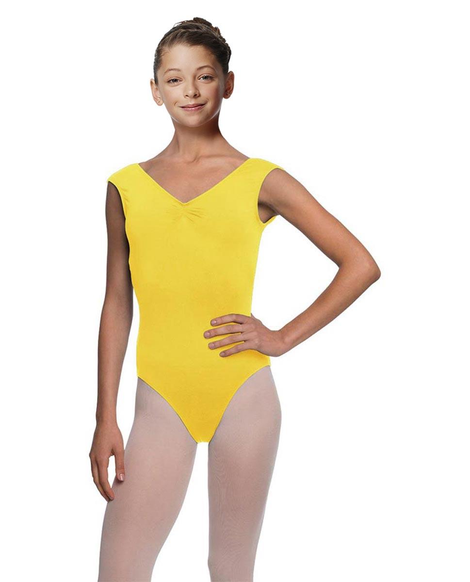 Girls Cap Sleeve Ballet Leotard Reyton YEL