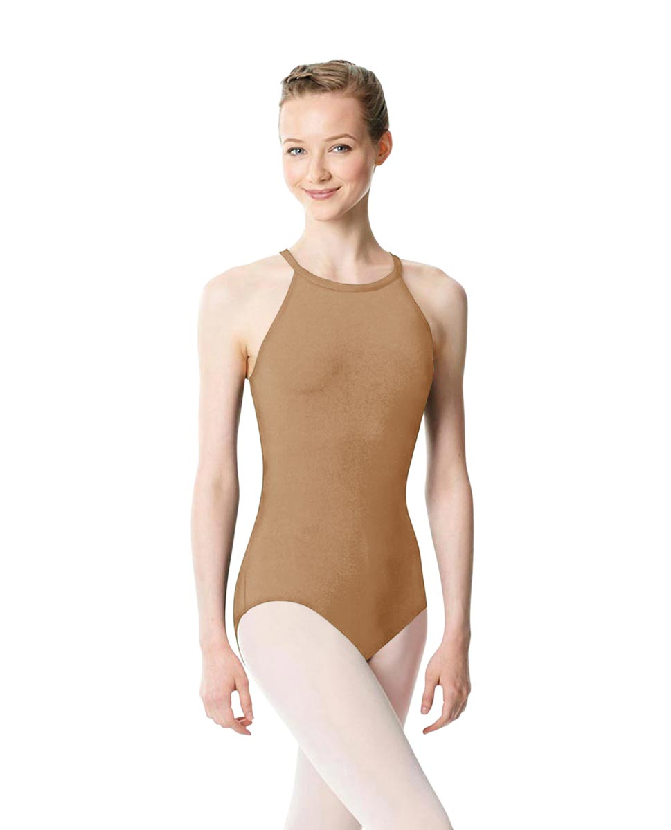 High Neck Tank Dance Leotard Ivana NUD