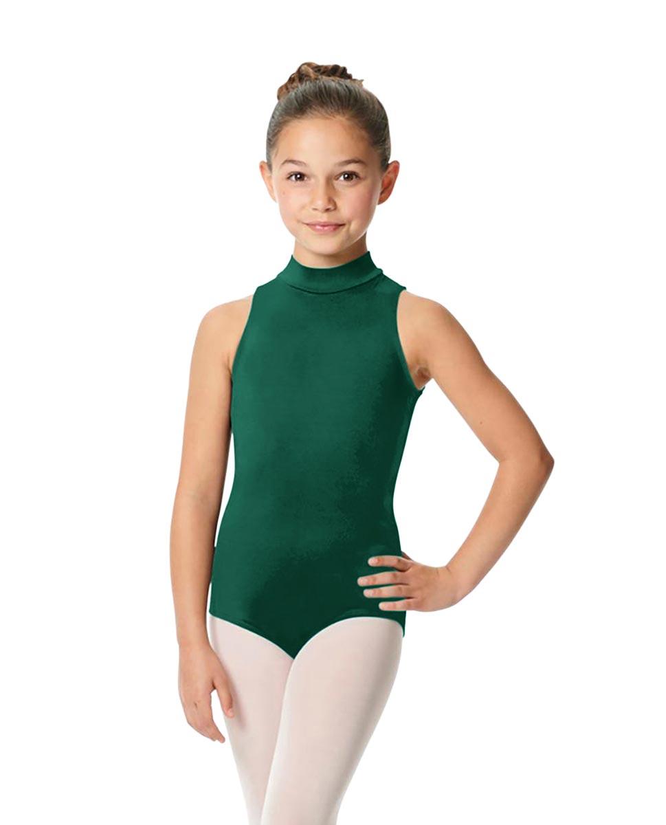Child High Neck Dance Leotard Penelope DGREEN