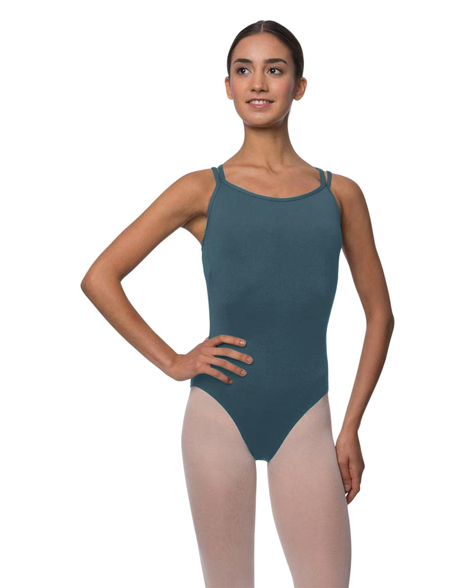 Womens Double Crossed Straps Camisole Dance Leotard Nina JEANS