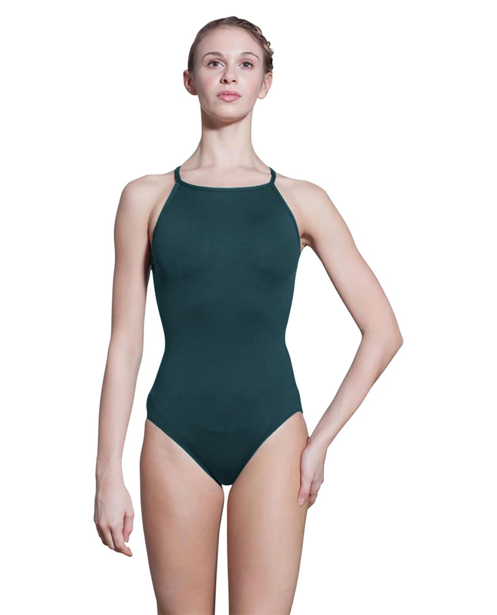 Adults Camisole Spiderweb Back Dance Leotard Rory DTEAL