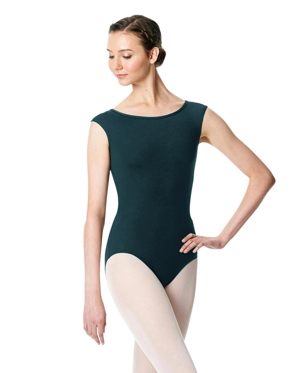 Cap Sleeve Open Back Dance Leotard Farah DTEAL