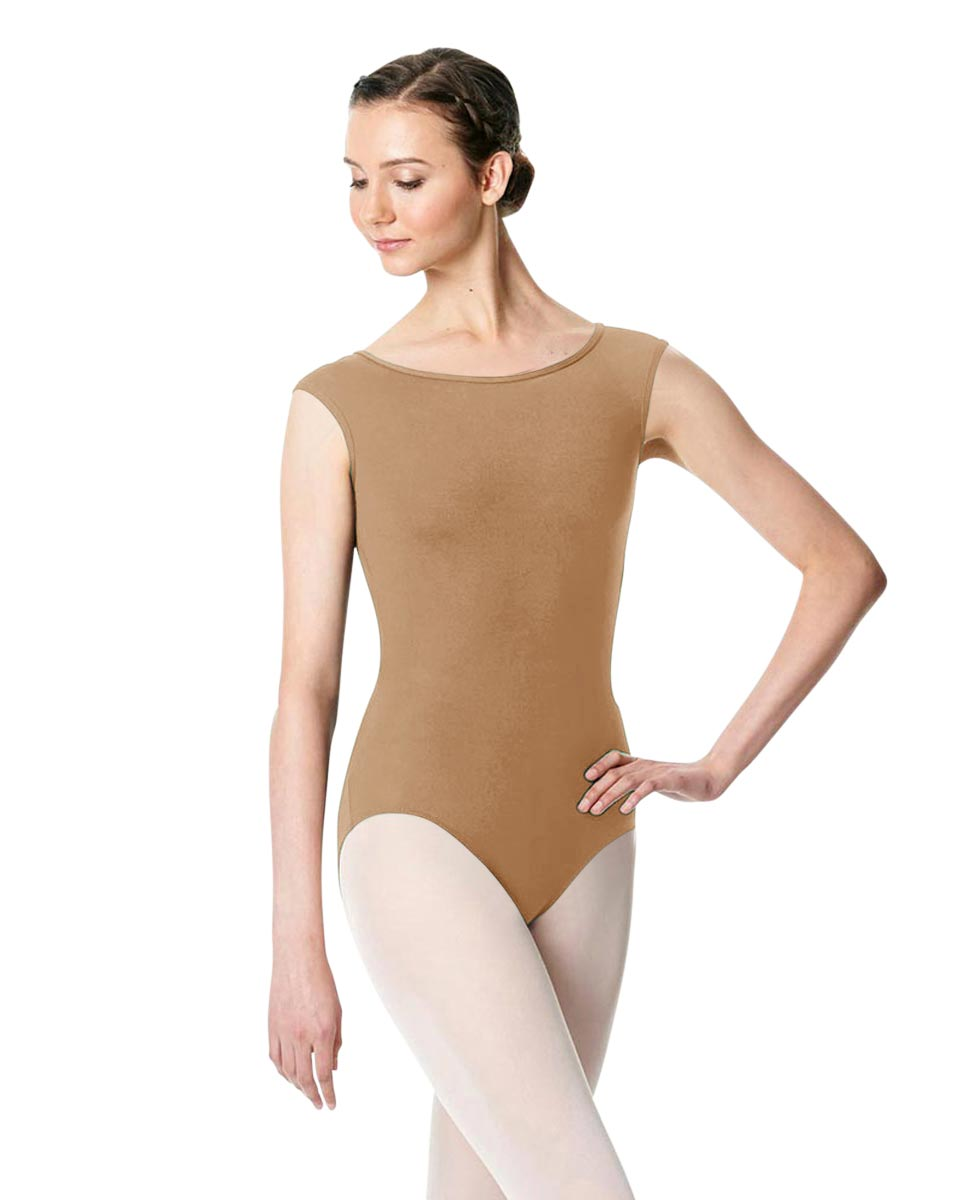 Cap Sleeve Open Back Dance Leotard Farah NUD