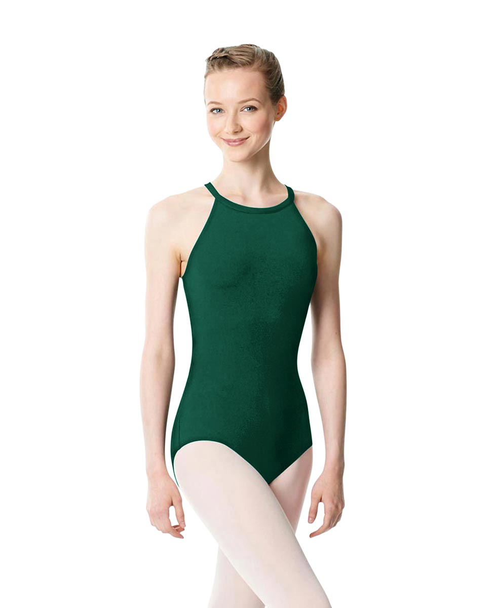 High Neck Tank Dance Leotard Ivana DGREEN