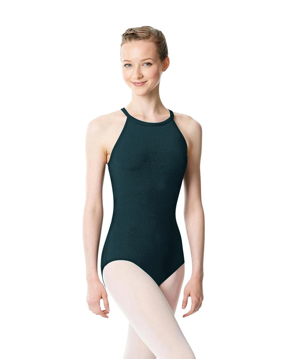 High Neck Tank Dance Leotard Ivana DTEAL