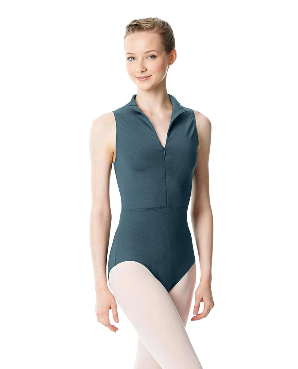 Womens Turtleneck Front Zipper Dance Leotard Leah JEANS