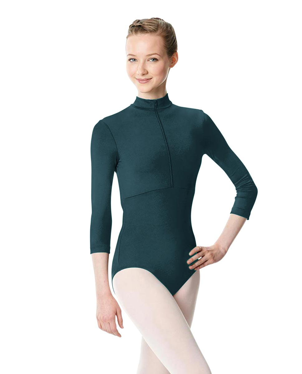 Long Sleeve Zipper Dance Leotard Eliana DTEAL
