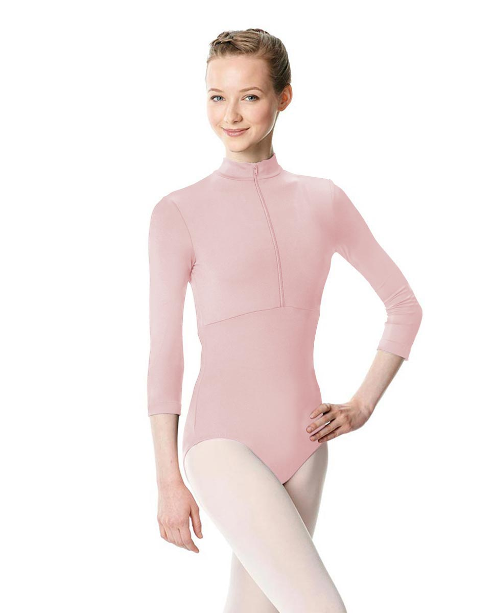 Long Sleeve Zipper Dance Leotard Eliana LPNK