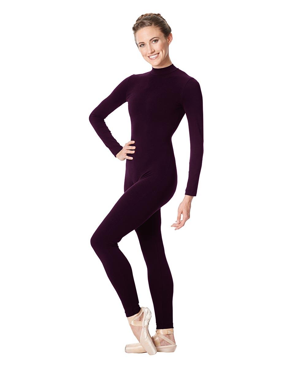 Adult Long Sleeve Mock Neck Dance Unitard Annabelle AUB