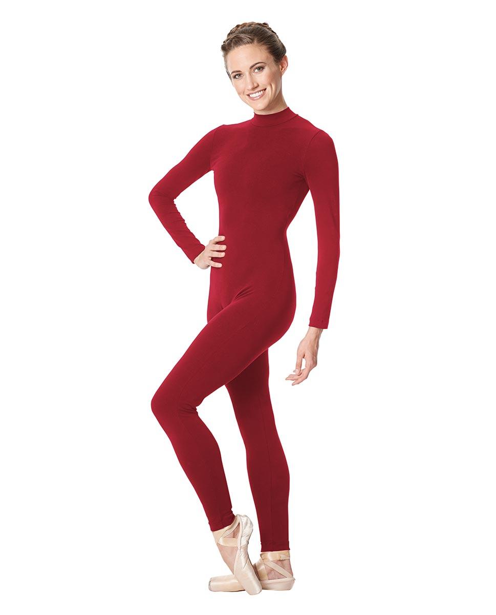 Adult Long Sleeve Mock Neck Dance Unitard Annabelle DRED