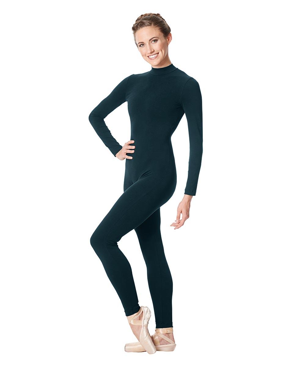 Adult Long Sleeve Mock Neck Dance Unitard Annabelle DTEAL