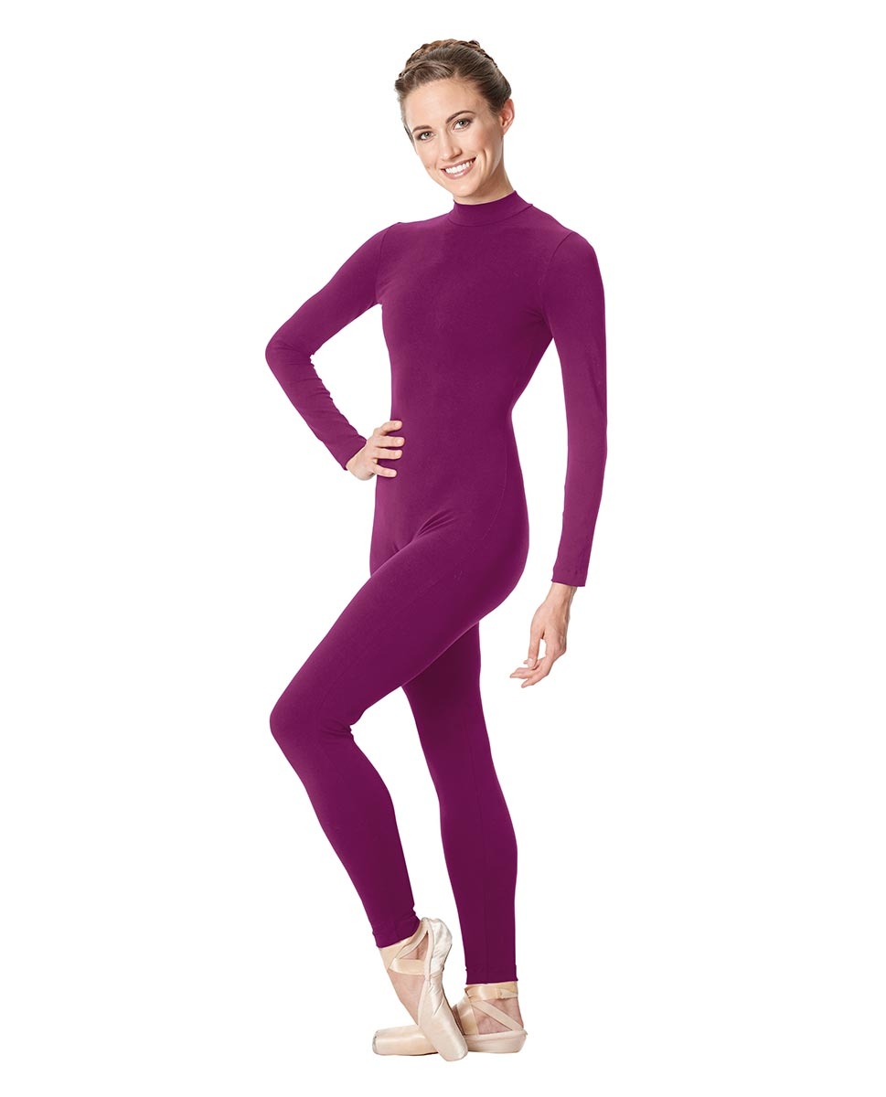 Adult Long Sleeve Mock Neck Dance Unitard Annabelle GRAP