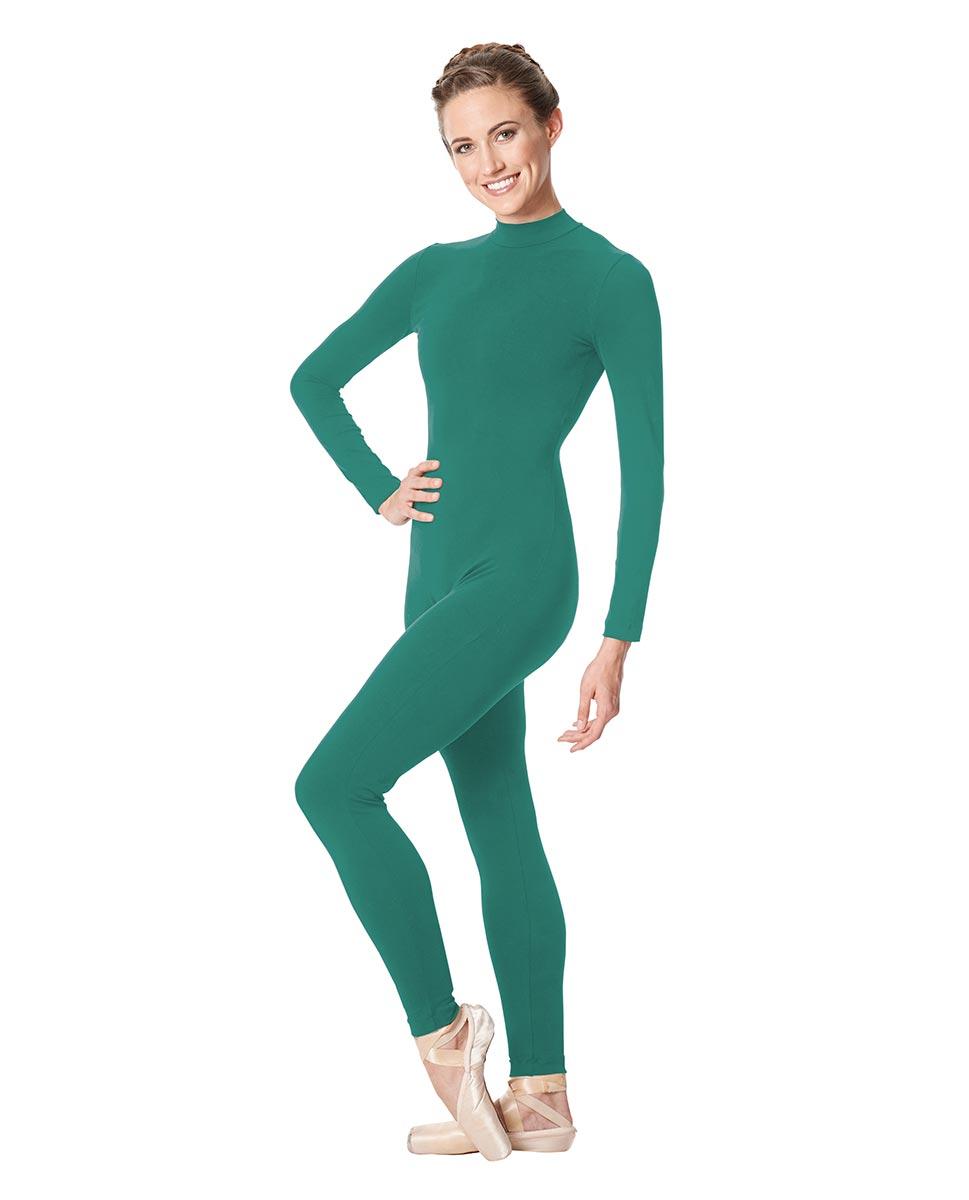 Adult Long Sleeve Mock Neck Dance Unitard Annabelle JAD
