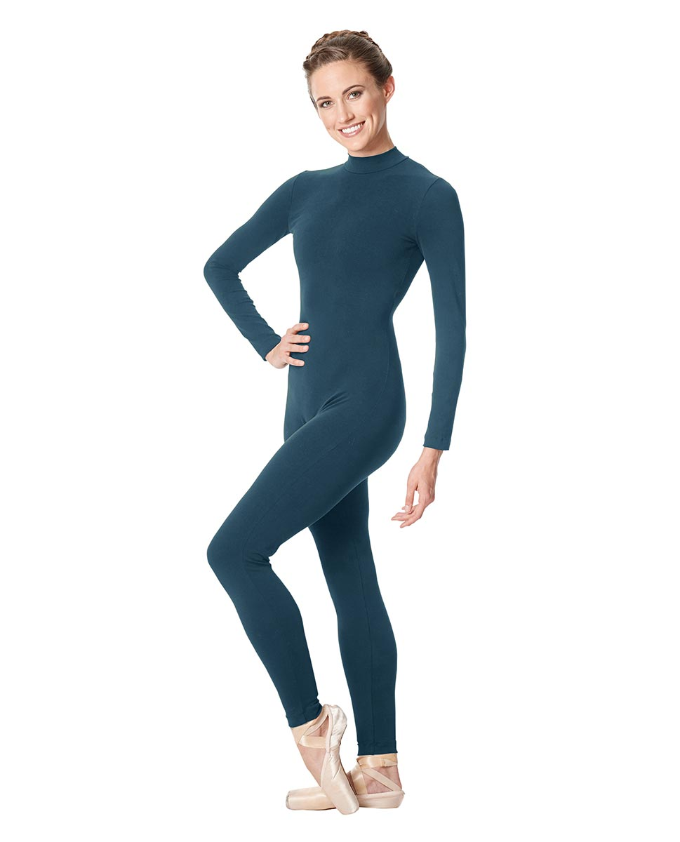 Adult Long Sleeve Mock Neck Dance Unitard Annabelle JEANS