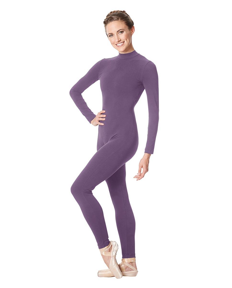 Adult Long Sleeve Mock Neck Dance Unitard Annabelle LAV