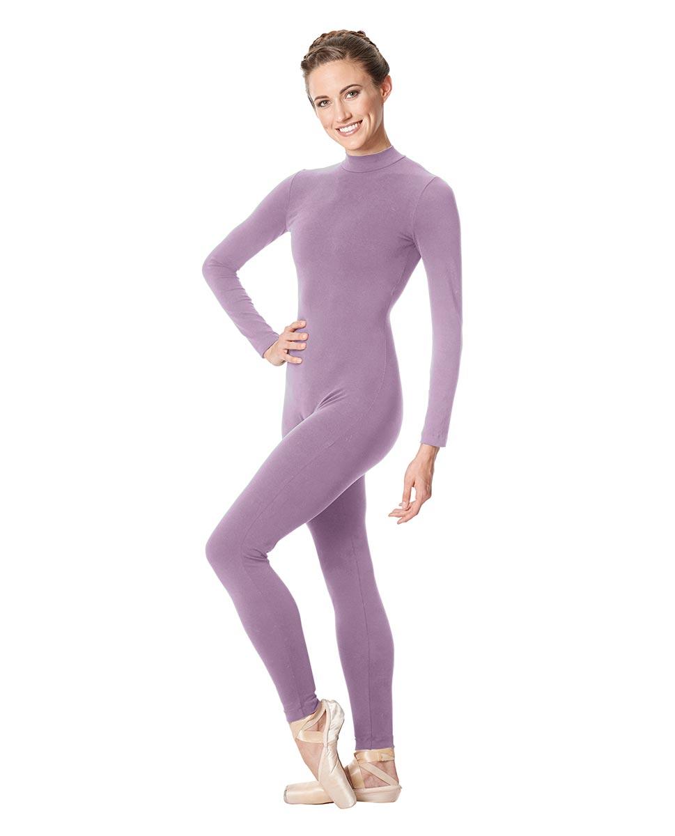Adult Long Sleeve Mock Neck Dance Unitard Annabelle LIL