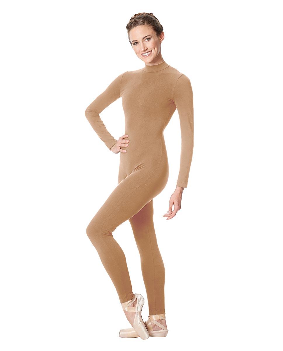 Adult Long Sleeve Mock Neck Dance Unitard Annabelle NUD