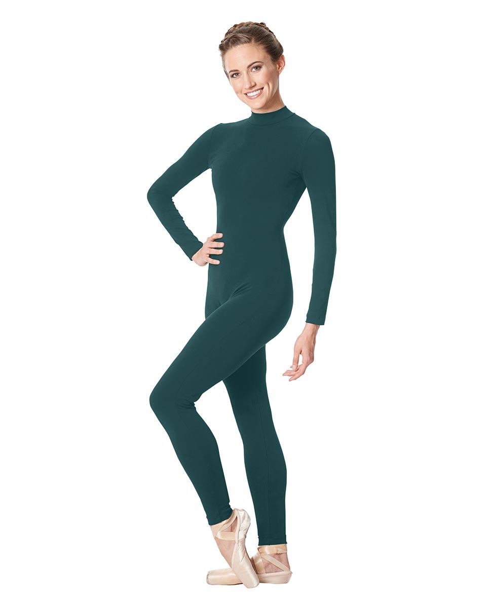 Adult Long Sleeve Mock Neck Dance Unitard Annabelle TEA