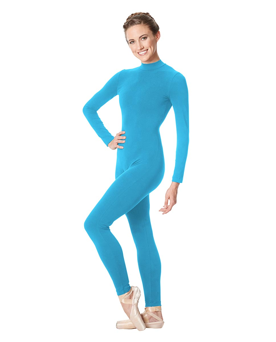 Adult Long Sleeve Mock Neck Dance Unitard Annabelle TUR
