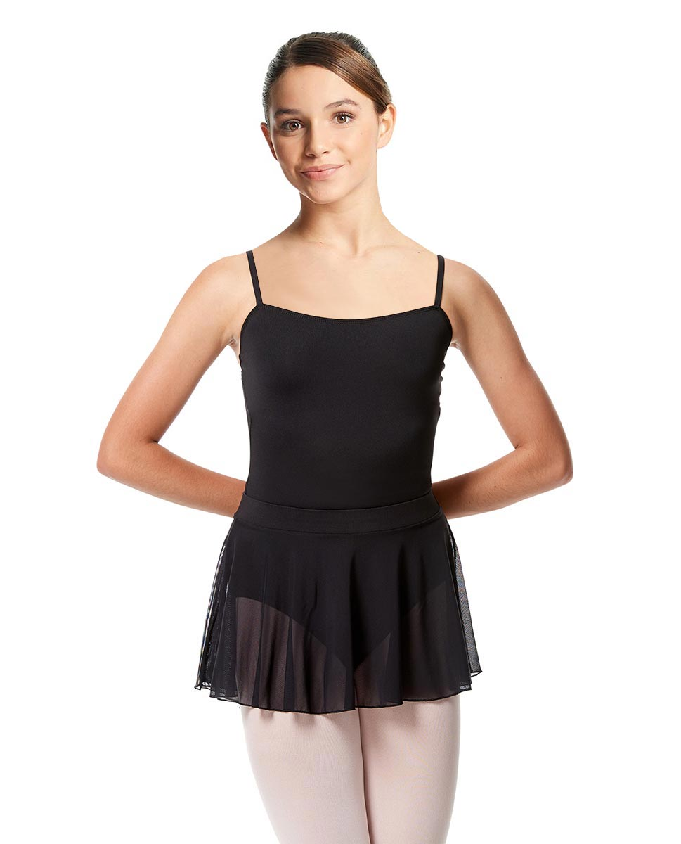 Girls Mesh Skirt Hania with Wide Elastic Waist Band BLK