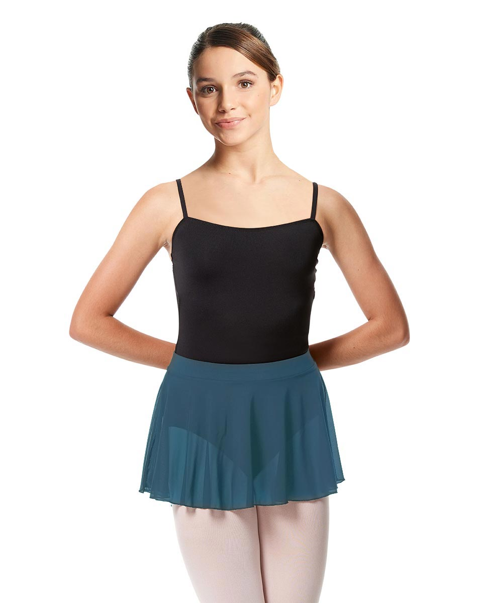 Girls Mesh Skirt Hania with Wide Elastic Waist Band BLUE