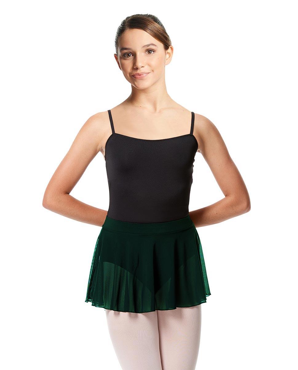 Girls Mesh Skirt Hania with Wide Elastic Waist Band DGREEN